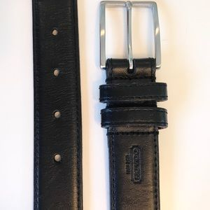 Coach Black Leather Belt Silver Buckle 30 inches
